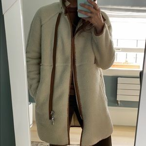 Madewell Sherpa teddy bear coat size xxs